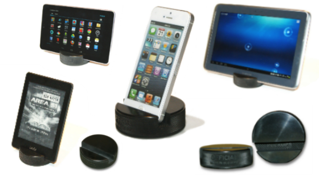 Hockey Puck Cell Phone Holders…Awesomely Indestructible! | PUCKUPS